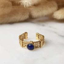 Bague ALIENOR bleu profond