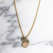 Collier AMULETTE Quartz rose pâle