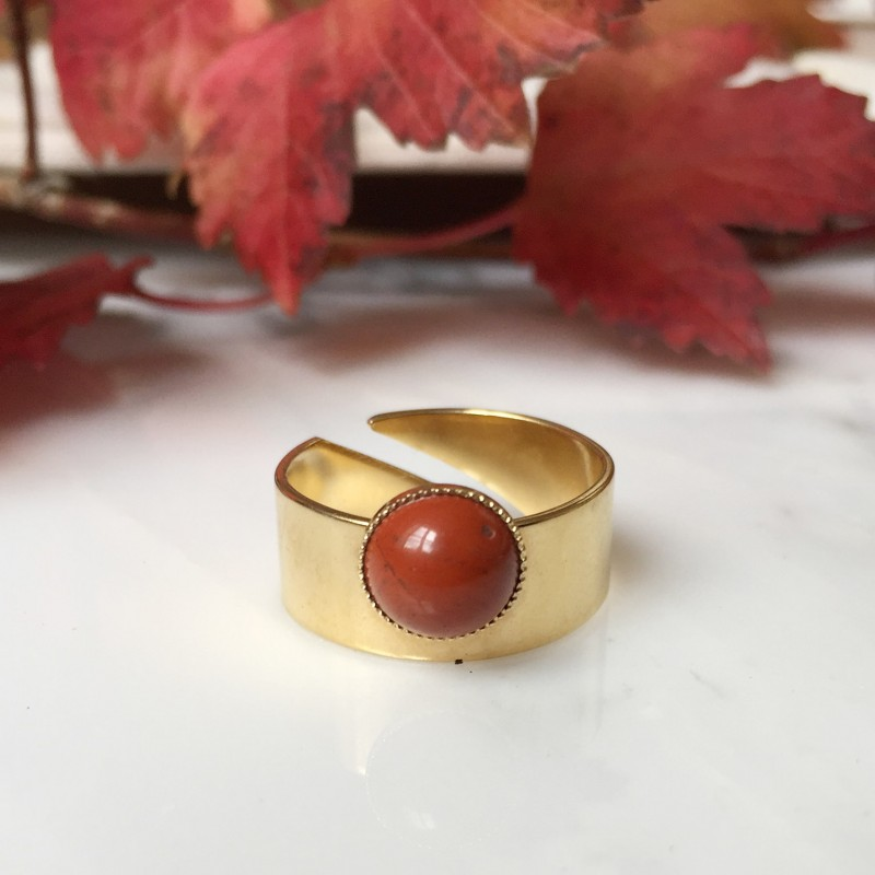 Bague MAY rouge brique