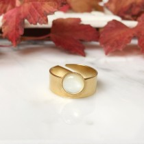 Bague MAY Nacre blanche