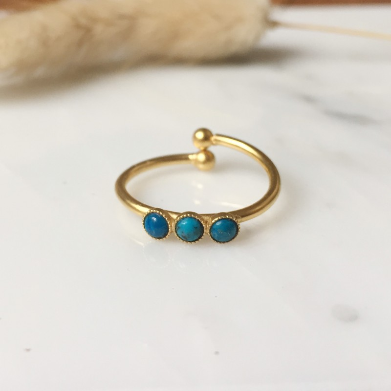 Bague ALEXANDRIE turquoise